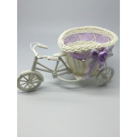 Велосипед декоративный арт.СШ.XY-7.СВ.Ф цв.светло-фиолетовый 20х11х9см