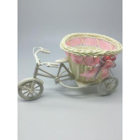 Велосипед декоративный арт.СШ.XY-7.СВ.РОЗ цв.светло-розовый 20х11х9см