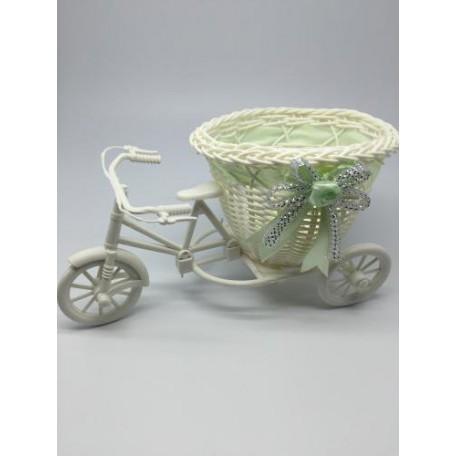 Велосипед декоративный арт.СШ.XY-7.СВ.ЗЕЛ цв.светло-зеленый 20х11х9см