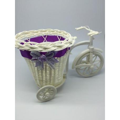 Велосипед декоративный арт.СШ.XY-9.СВ.Ф цв.светло-фиолетовый 25х15х13см