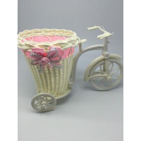 Велосипед декоративный арт.СШ.XY-9.СВ.РОЗ цв.светло-розовый 25х15х13см