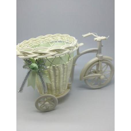 Велосипед декоративный арт.СШ.XY-9.СВ.ЗЕЛ цв.светло-зеленый 25х15х13см
