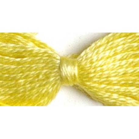 Нитки мулине 12х10м цв.0301 желтый С-Пб