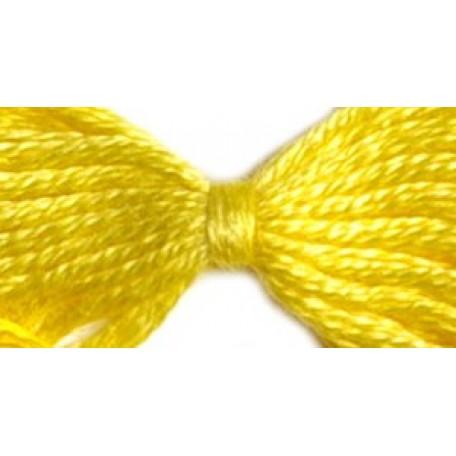 Нитки мулине 12х10м цв.0303 желтый С-Пб