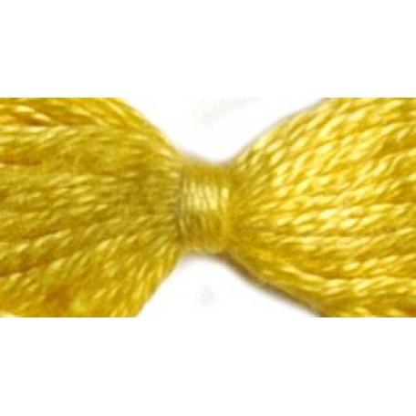 Нитки мулине 12х10м цв.0304 желтый С-Пб