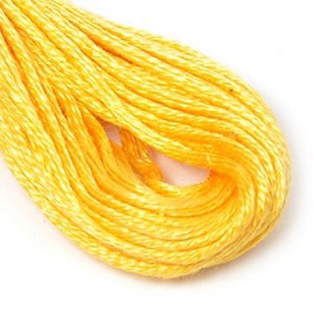 Нитки мулине 12х10м цв.0402 желтый, С-Пб