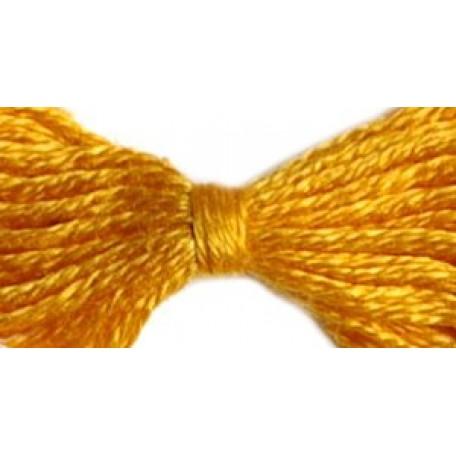 Нитки мулине 12х10м цв.0512 т.желтый С-Пб