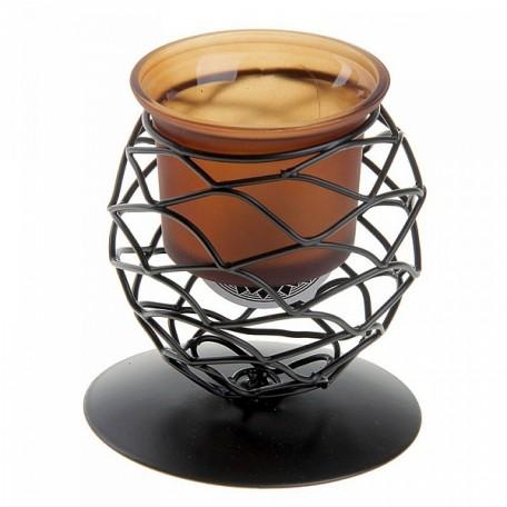 СЛ.152436 Подсвечник металл 1 свеча Сфера h-8,5 см коричневый
