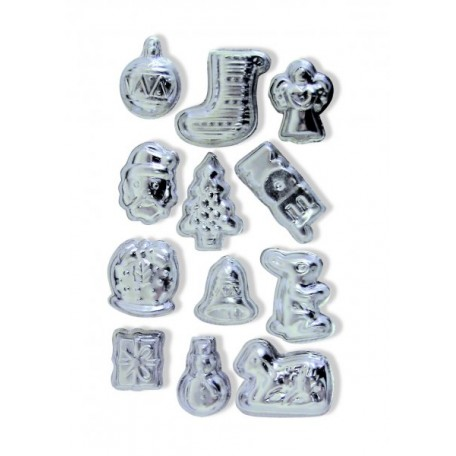 CWR Набор металлических форм арт. 04269 'Рождественские мотивы' уп.12 шт