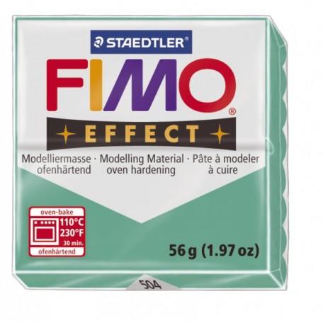 FIMO Effect полимерная глина, запекаемая в печке, уп. 56 гр. цв.полупрозрачный зелёный арт.8020-504