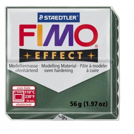 FIMO Effect полимерная глина, запекаемая в печке, уп. 56 гр. цв.зеленый опал, металлик, арт.8020-58