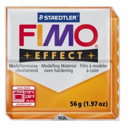 FIMO Effect полимерная глина, запекаемая в печке, уп. 56 гр. цв.полупрозрачный оранж арт.8020-404