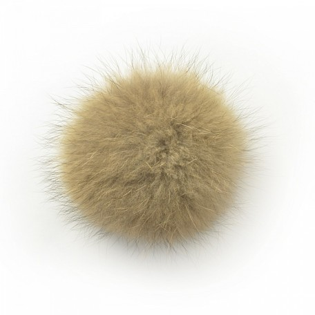 Помпон натуральный арт.PNE11 Енот 15см цв.натуральный коричневый