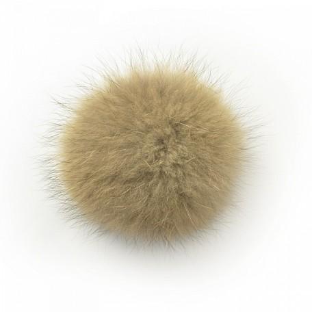 Помпон натуральный арт.PNE12 Енот 12см цв.натуральный коричневый