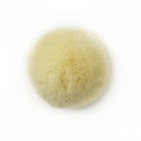 Помпон натуральный арт.PNK513 Кролик 6см цв.молочный