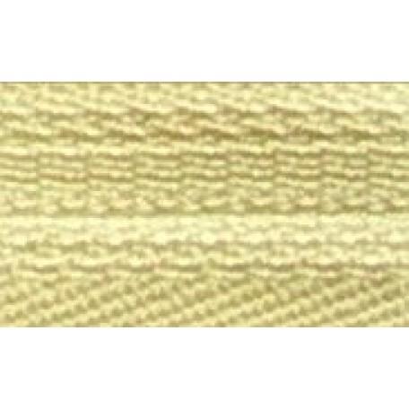 Молния пласт. потайная №3 20см цв.107 бледно-желтый