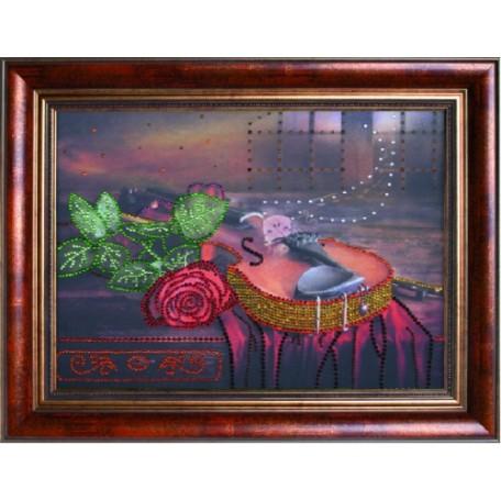 Набор 'ПРЕОБРАНА' арт.ПРБ-0119 для изготовления картины со стразами 'Вечерняя серенада'