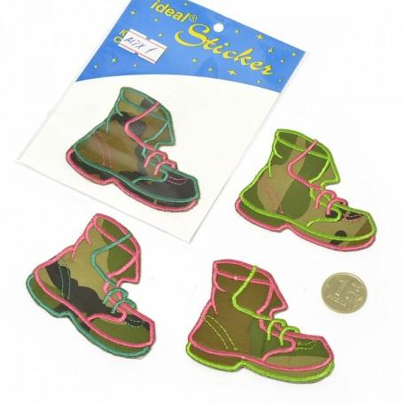 Апликация пришивная арт.АПЛ.01 'Ботинок' 5,5х7см цв.MIX01 упак.1шт.