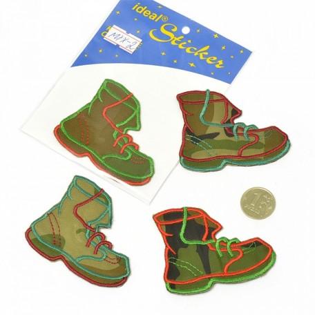 Апликация пришивная арт.АПЛ.02 'Ботинок' 5,5х7см цв.MIX02 упак.1шт.