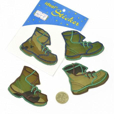 Апликация пришивная арт.АПЛ.04 'Ботинок' 5,5х7см цв.MIX04 упак.1шт.