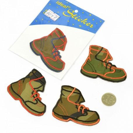 Апликация пришивная арт.АПЛ.07 'Ботинок' 5,5х7см цв.MIX07 упак.1шт.