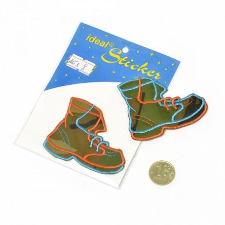 Апликация пришивная арт.АПЛ.08 'Ботинок' 5,5х7см цв.MIX08 упак.1шт.