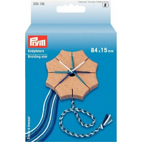 PR.225135 PRYM Звезда для плетения шнуров кумихимо 84х15 мм дерево