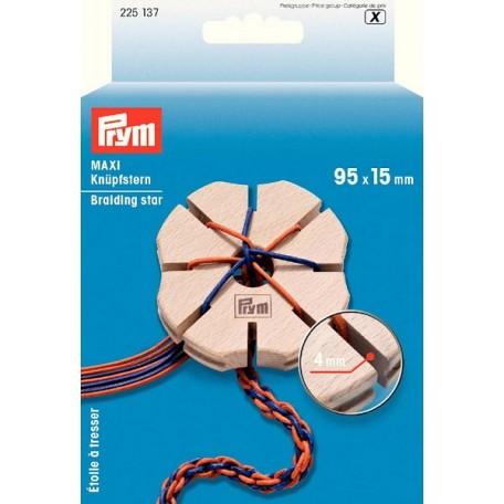 PR.225137 PRYM Звезда для плетения шнуров кумихимо 95х15 мм дерево