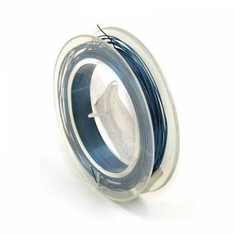 Проволока d 0,3мм арт.ТВ HET-03 цв.голубой рул.10м