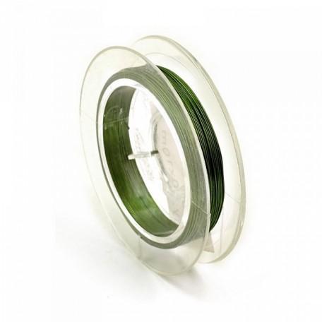 Проволока d 0,3мм арт.ТВ HET-05 цв.зеленый рул.10м