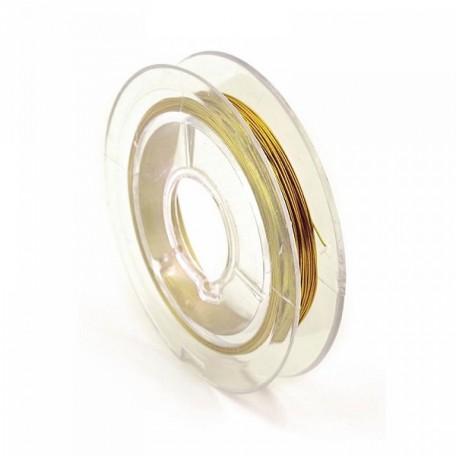 Проволока d 0,3мм арт.ТВ HET-10 цв.золото рул.10м