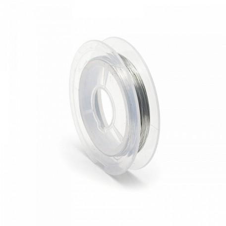 Проволока d 0,3мм арт.ТВ HETCH-01 цв.серебро рул.10м
