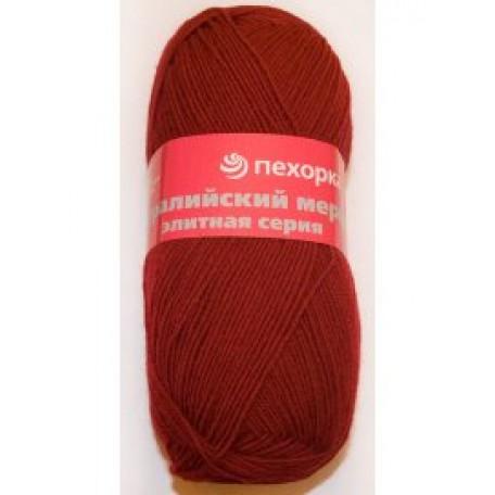 Пряжа для вязания ПЕХ 'Австралийский меринос' (95% мериносовая шерсть, 5% акрил в/о) 5х100гр/400м цв.007 бордо
