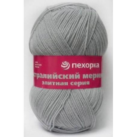 Пряжа для вязания ПЕХ 'Австралийский меринос' (95% мериносовая шерсть, 5% акрил в/о) 5х100гр/400м цв.276 перламутр