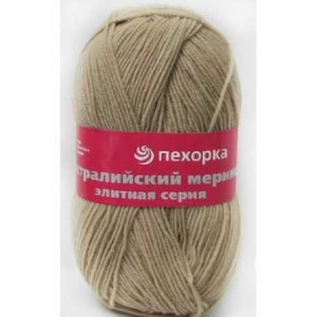 Пряжа для вязания ПЕХ 'Австралийский меринос' (95% мериносовая шерсть, 5% акрил в/о) 5х100гр/400м цв.337 лама