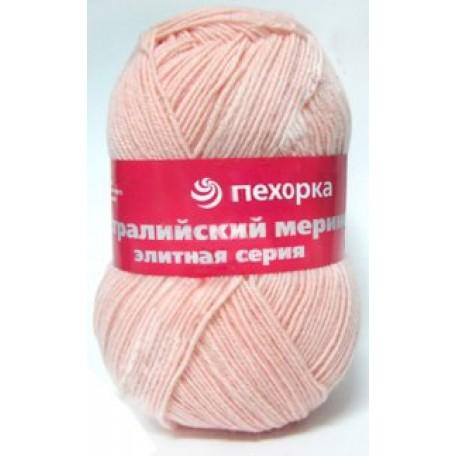 Пряжа для вязания ПЕХ 'Австралийский меринос' (95% мериносовая шерсть, 5% акрил в/о) 5х100гр/400м цв.345 петунья