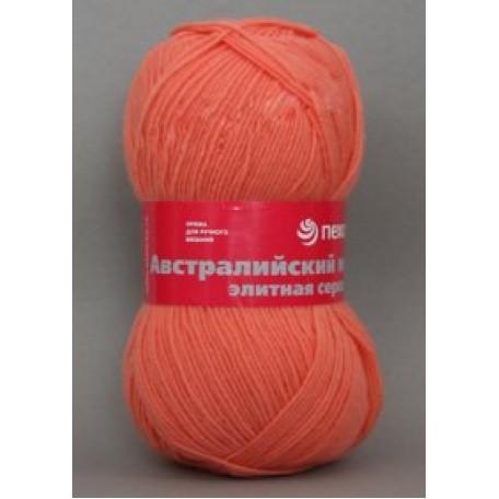 Пряжа для вязания ПЕХ 'Австралийский меринос' (95% мериносовая шерсть, 5% акрил в/о) 5х100гр/400м цв.351 св.коралл