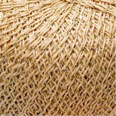 Нитки для вязания 'Золотой Шар' (86%хлопок14%люрекс) 6х50гр/390м цв.3201 св.бежевый, С-Пб