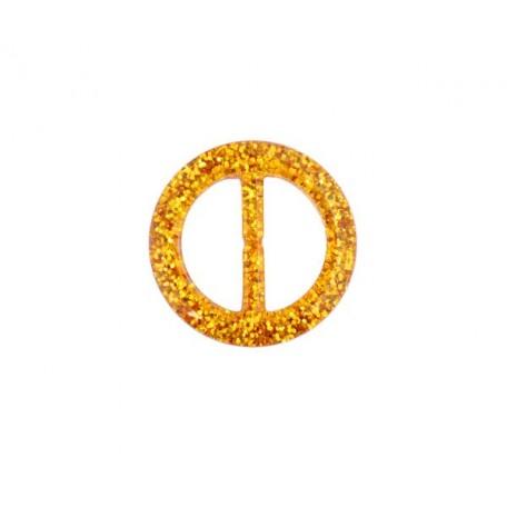 Пряжка пластмассовая арт.TBY- D1604-4 d=30мм круг цв.золото