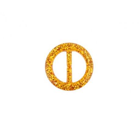 Пряжка пластмассовая арт.TBY- D1604-5 d=25мм круг цв.золото