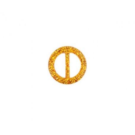Пряжка пластмассовая арт.TBY- D1604-6 d=20мм круг цв.золото