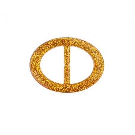 Пряжка пластмассовая арт.TBY- D1605-3 d=30мм овал цв.золото