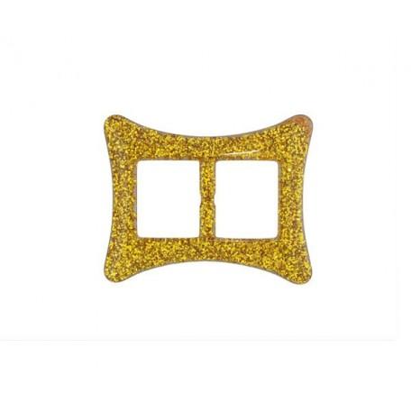 Пряжка пластмассовая арт.TBY- D1609-1 d=30мм прямоугольник цв.золото