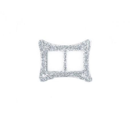 Пряжка пластмассовая арт.TBY- D1609-2 d=20мм прямоугольник цв.серебро