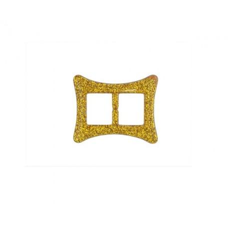 Пряжка пластмассовая арт.TBY- D1609-2 d=20мм прямоугольник цв.золото