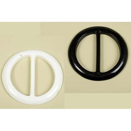 Пряжка пластмассовая арт.TBY- Кр50 d=50мм круг цв.белый