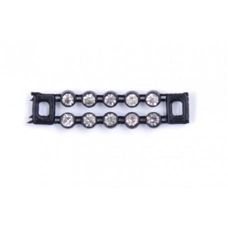 Пряжка пластмассовая со стразами арт.ТВМ-403-0905 шир. мм цв.черный