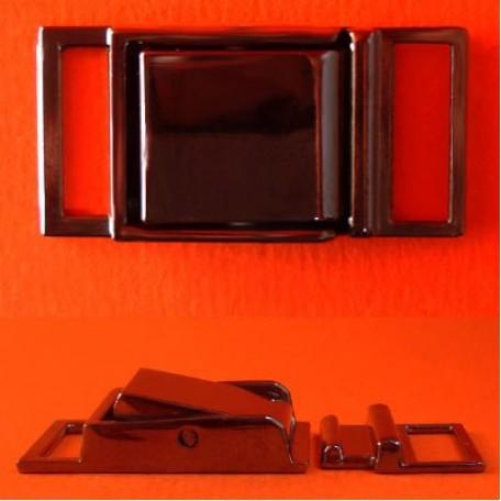 Пряжка металлическая арт.ТД.Г8354.16.ЧН 16мм цв.черный никель уп.5шт