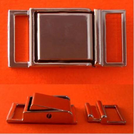 Пряжка металлическая арт.ТД.Г8354.16.НИК 16мм цв.никель уп.5шт