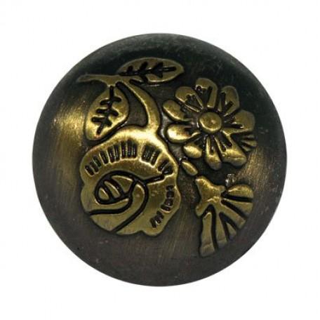 Пуговицы джинсовые полусфера арт.TBX-YN 0205 с рис. материаль латунь 20мм цв.желт.бронза